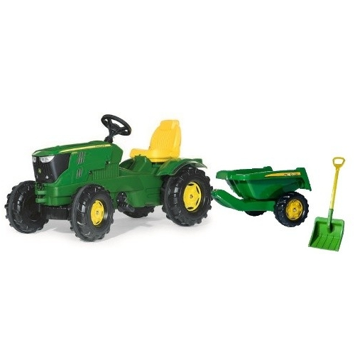 tracteur p dales john deere 6210 avec remorque rollykipper. Black Bedroom Furniture Sets. Home Design Ideas