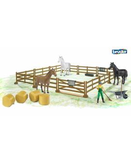 Clôture-à-bétail-chevaux-balles-paille-fermier-02306-62604-62610-02344-Bruder-Agridiver