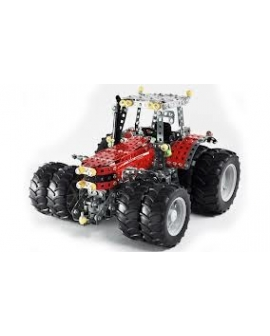 Montage tracteur échelle Massey Ferguson MF8690 avec double roues.